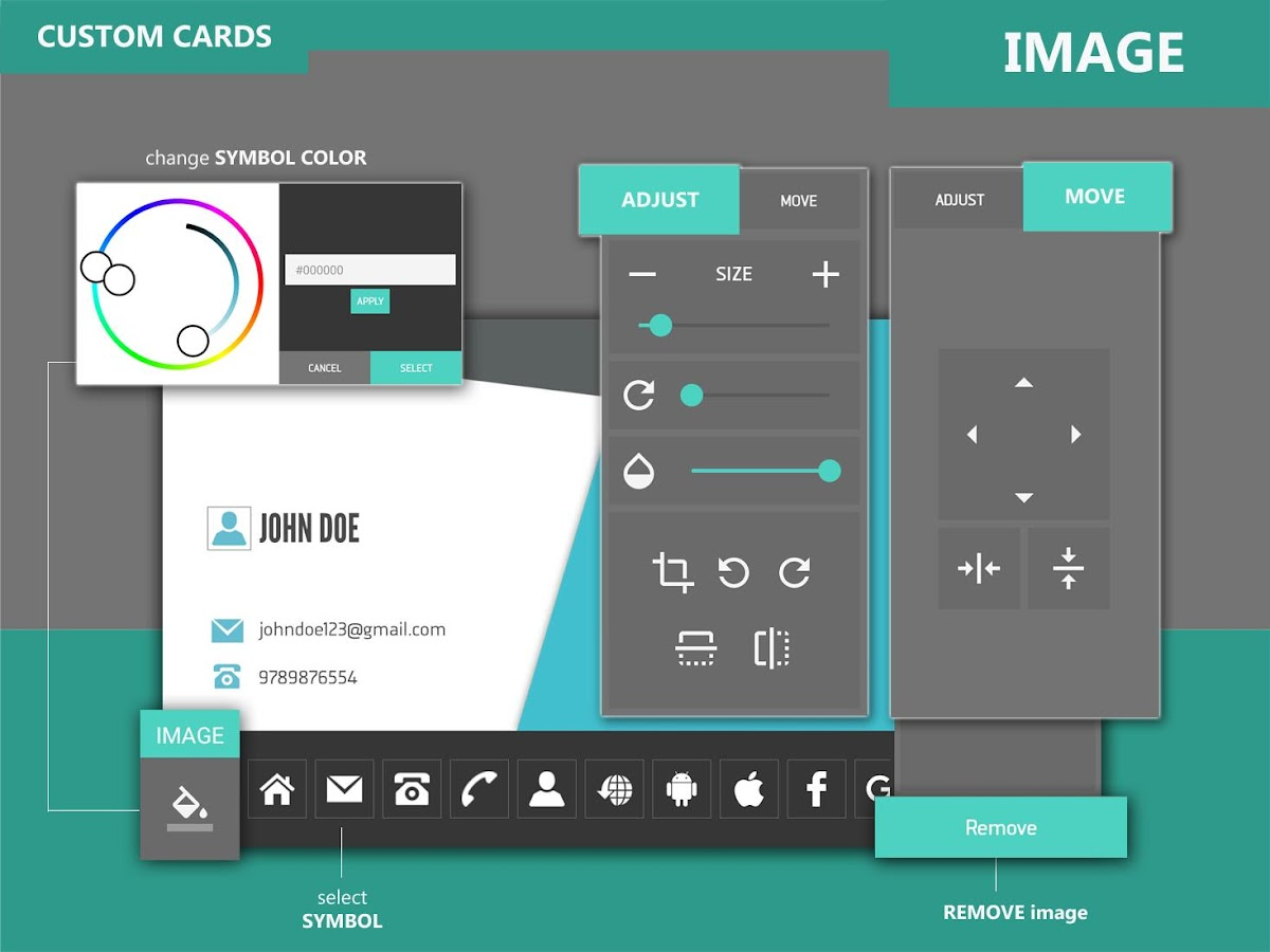 Business card creator android apps on google play business card creator screenshot magicingreecefo Choice Image