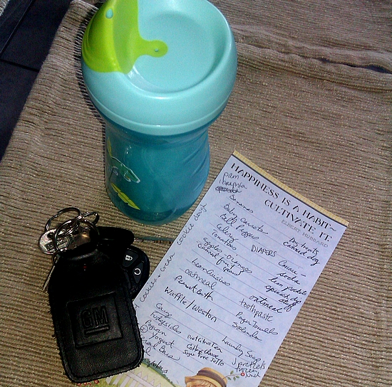 Photo: We spent the weekend in Galveston so Monday morning brought the need to go grocery shopping. Normally I do it on the weekend with my mom and we whip through it. Today I had my little guy with me and he hasn't been in quite a while so I wasn't sure how it would go! I put together my grocery list including TCBY Cookies & Cream Frozen Yogurt (yum!) in honor of National Oreo Day and National Yogurt Month!