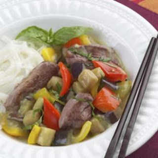 Thai Green Curry with Duck.