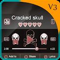 Crâne fissuré PlayerPro Art icon