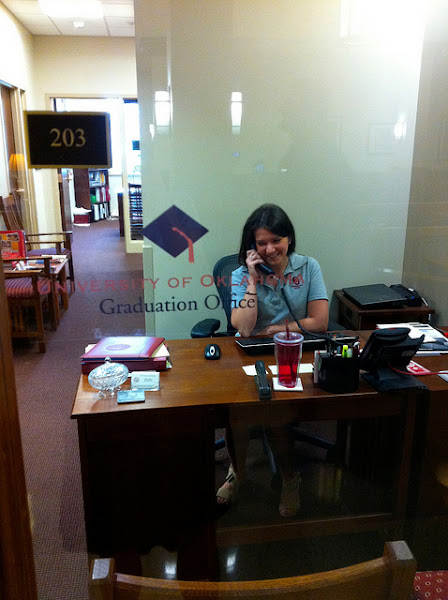 Photo: The Graduation Office is a place where all Sooners will end up, with hard work of course!