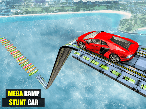 Mega Ramp Impossible Car Jump Over The Airplane screenshots 11