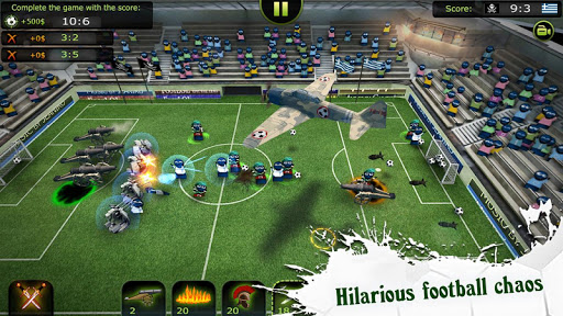Chiến đấu trên sân bóng trong game FootLOL mod