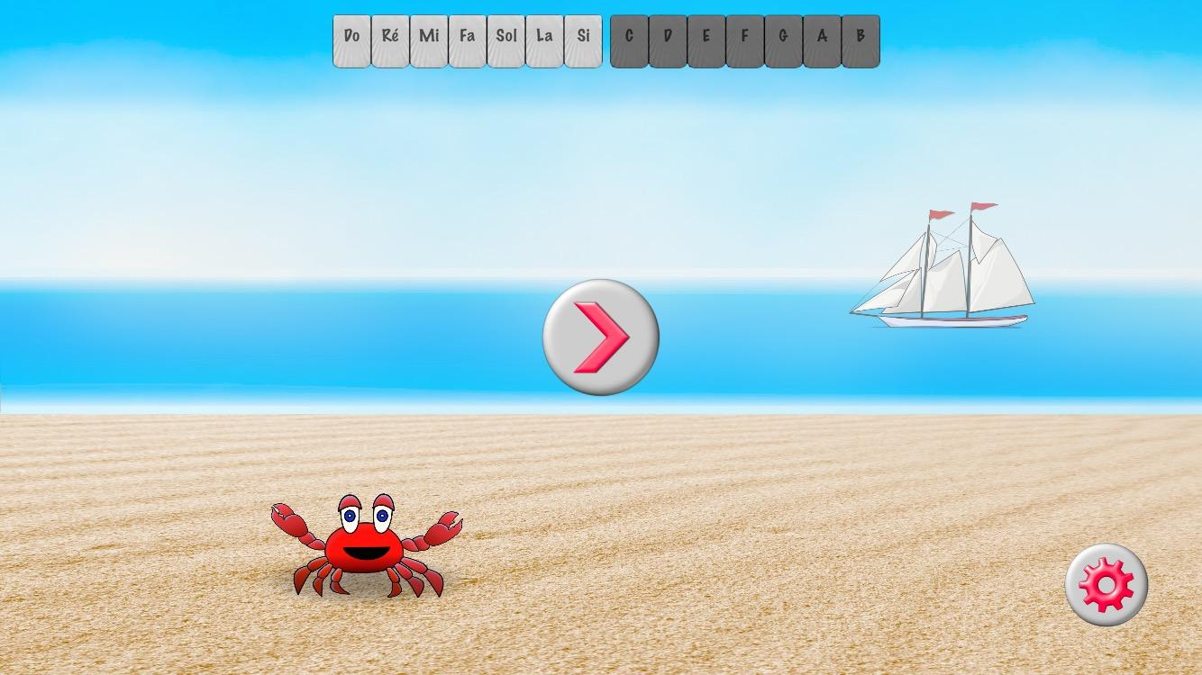 Music Crab-Lire les notes – Capture d'écran