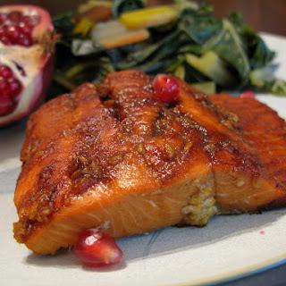 Pomegranate Molasses-Glazed Salmon.