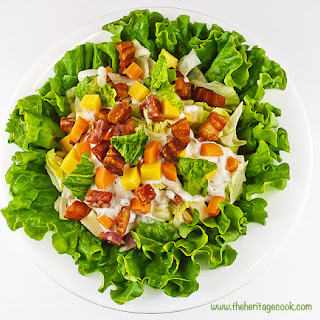 Chopped Steakhouse Salad with Creamy Ranch-Style Dressing.