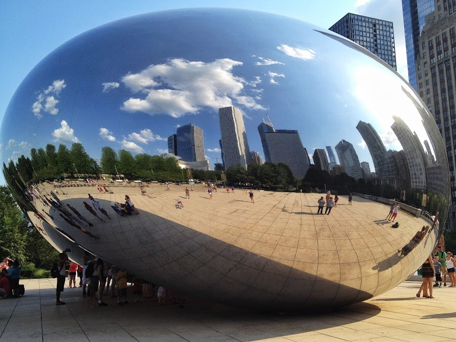 by Elizabeth Johnson - Instagram & Mobile iPhone ( reflection, statue, structure, bean )