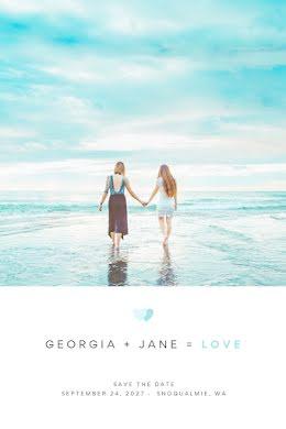 Georgia & Jane's Wedding - Save the Date item