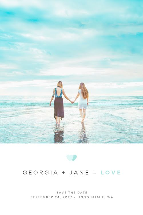Georgia & Jane's Wedding - Wedding Invitation Template