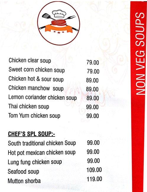 Chef's Kitchen menu 1