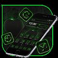 Neon Tech Apple Green Black Theme 🍏 APK