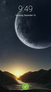 The Moon Lock Screen Wallpaper - náhled