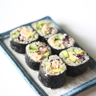 Brown Rice Rolled Sushi 巻き寿司.