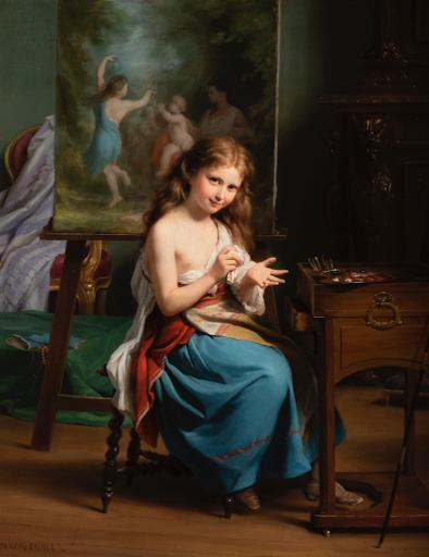 Segoura Fine Art - Fritz Zuber-Bühler - Portrait de Jeune Fille