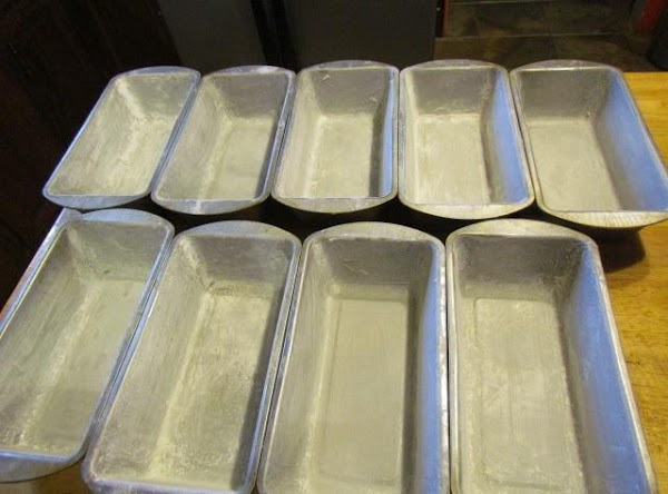 Preheat oven at 350 degrees  prepare 8 bread pans, grease and flour. Do not use...