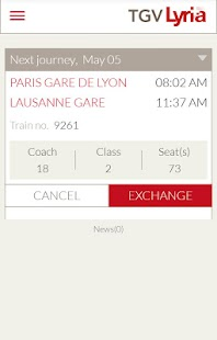 TGV Lyria : trains & schedules- screenshot thumbnail