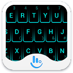 Neon Blue Keyboard Theme v6.5.6.118026