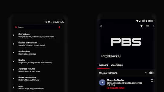 PitchBlack S – Samsung Substratum Theme Oreo/OneUI v28.4 [Patched] 9