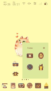 Lovely cute cat Launcher theme - náhled