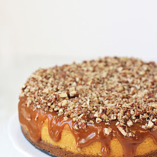Pumpkin Pie Caramel Biscoff Cheesecake