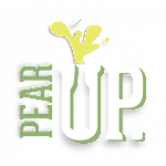 Logo for Pear Up. Cider