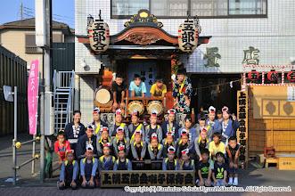 Photo: 【平成26年(2014) 宵宮】 山車運行前の囃子連集合写真。