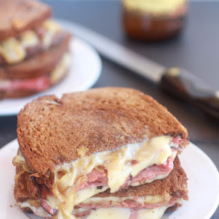 Pastrami and Caramelized Onion Grilled Cheese.