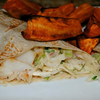 Simply Spicy Cod Wraps.