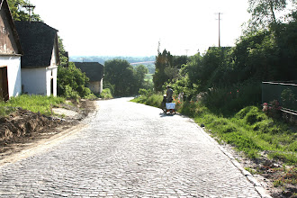 Photo: Day 76 - Early Morning and the Cobbled Downhill into the Village of Batina