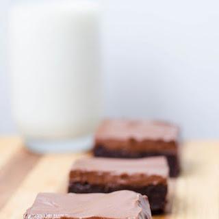 Chocolate Yogurt Mousse Brownies