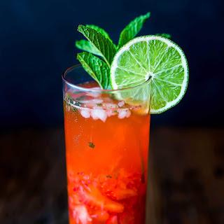 Virgin Strawberry Lime Mojito.