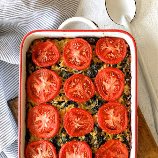 Brown Rice Cheddar and Kale Casserole.