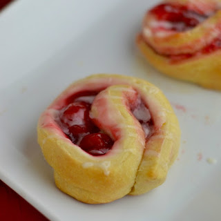 Cream Cheese Cherry Crescent Roll.
