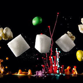 Candy Explosion #1 by Kai Süselbeck - Food & Drink Candy & Dessert ( popcorn, beat, m&m, candy, explosion, bass, drops, sugar )