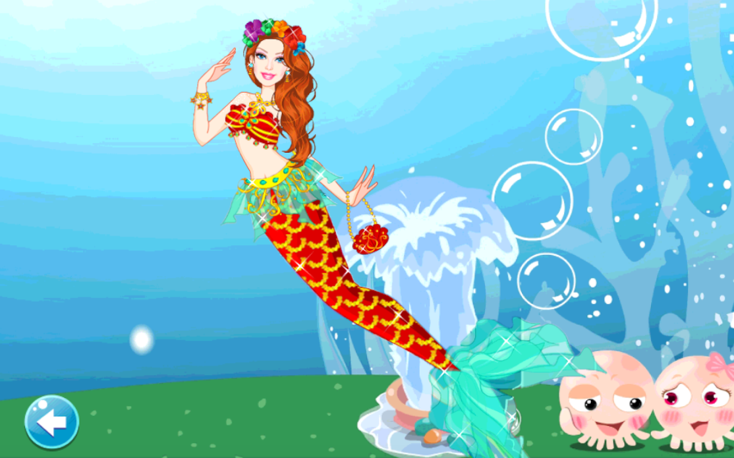 dress up mermaid