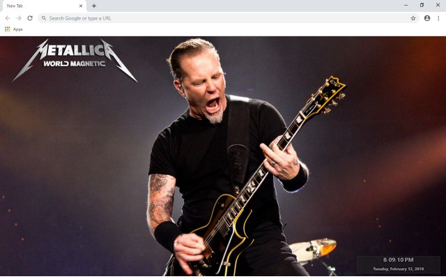 Metallica New Tab & Wallpapers Collection