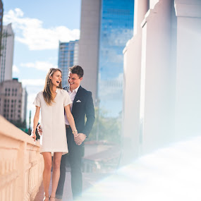 Phoenix Light by Corey Gross - People Couples ( color, flare, phoenix, downtown, engagement )
