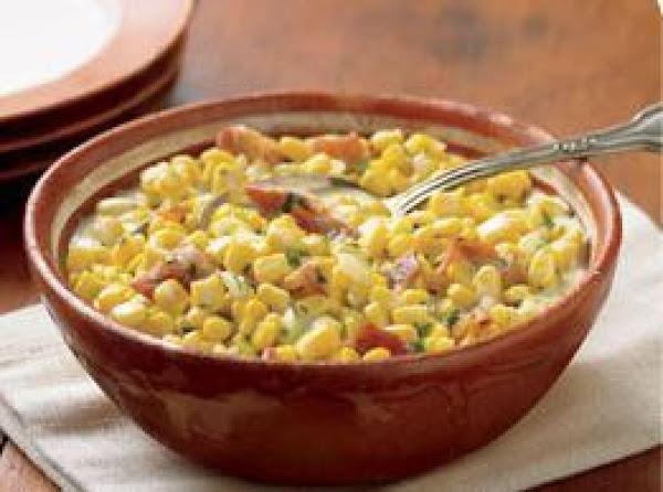 Creamed Sweet Corn With Bacon Recipe