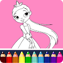 Coloring Book Princess icon
