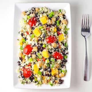 "Addicting Mango, Black Bean, and Cauliflower ""Rice"" Salad"