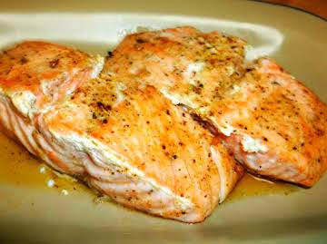 Buttery Baked Salmon Recipe