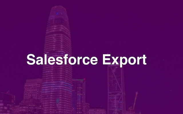 Salesforce Export by Dataday