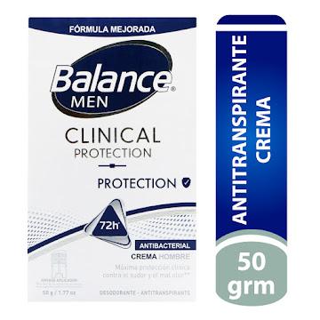 //Desodorante Balance   Clinical Crema Protección Men X50g