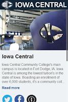Screenshot of Iowa Central