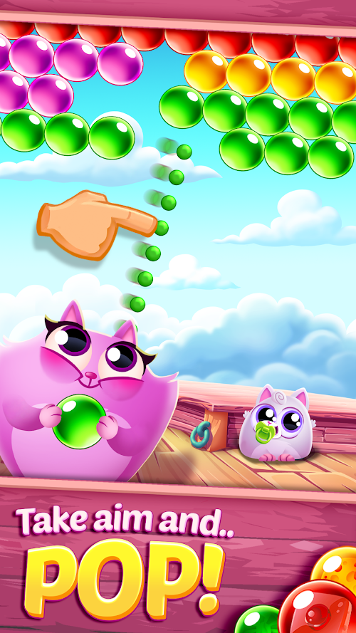 Screenshot 1 Cookie Cats Pop 1.35.1 APK MOD