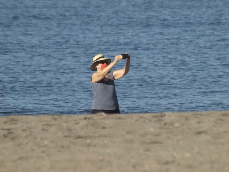 Un selfie desde la orilla.