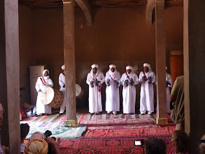 Photo: Local musicians preform in Oulad Mhia.