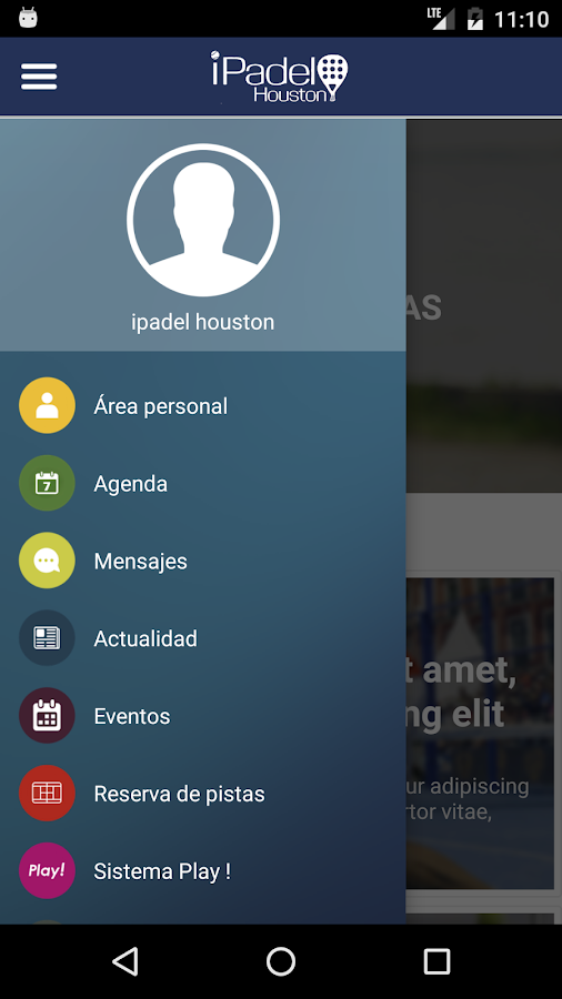 iPadel Houston- screenshot