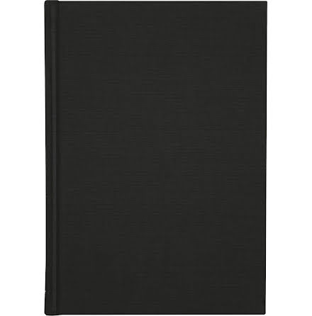 Ant.bok Linne A4 linj svart