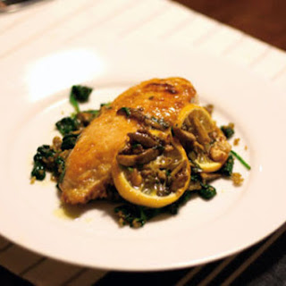 Sautéed Chicken with Olives, Capers, and Roasted Lemons.